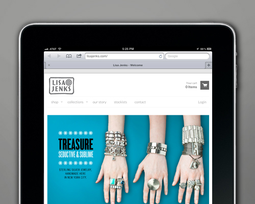Lisa Jenks Responsive E-commerce Website