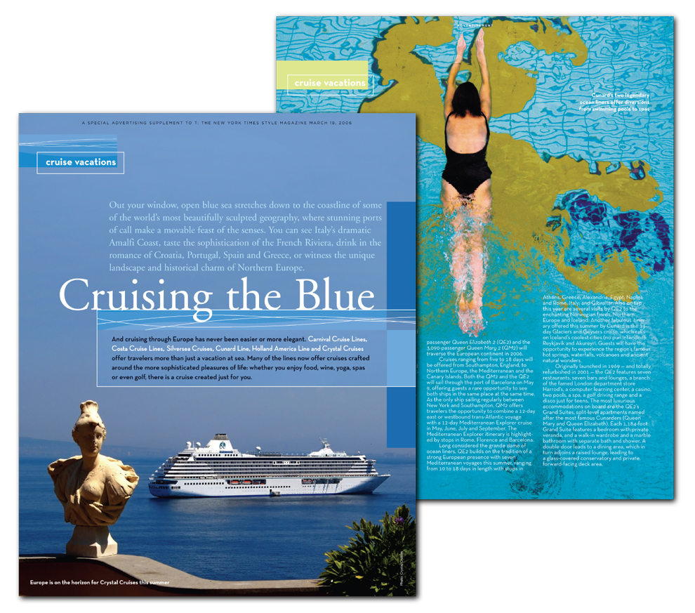 Design for Magazine Cruise section